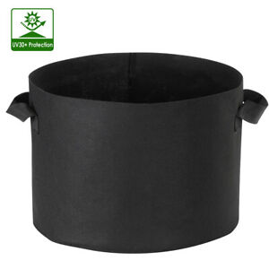 5 Pack 7 Gallon Grow Bags Fabric Pots Root Pouch with Handles Planting Container