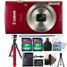 Canon IXUS 185 / ELPH 180 20MP Digital Camera Red and Accessories