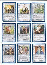Lote 9 cartas SEÑOR DE LOS ANILLOS SDLA 1995 Lote 3/5  coleccion NM LOTR