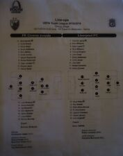 Line ups UYL 2018/19 Crvena Zvezda vs Liverpool FC