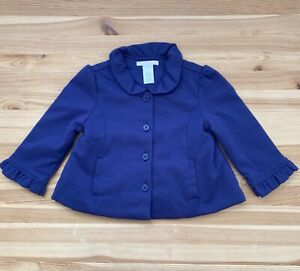 JANIE AND JACK Violet Meadows Purple Knit Jacket Sweater Coat Size 12-24 Months