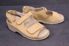 C969 Berkemann Toronto Damen Komfort Fußbett Sandalen Leder beige Gr. 36,5