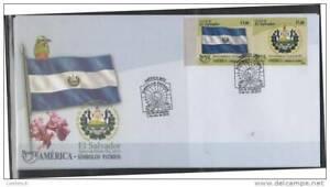RO) 2010 EL SALVADOR,AMERICA UPAEP, PATRIOTIC SYMBOLS- SHIELD AND FLAG, FDC XF.