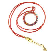 Necklace Pendant Fashion Magnetic Living Memory Rhinestone Floating Charm Locket