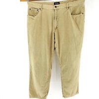 St Johns Bay Mens 42x32 Corduroy Jeans 5 Pocket Work Pants Beige Casual