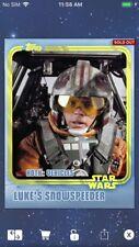 Topps Star Wars Digital Card Trader Yellow Hoth Luke's Snowspeeder Insert Award