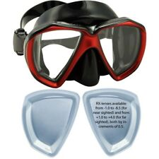 Rx Prescription Scuba Dive Snorkeling Fish Eyes Mask Big Lenses
