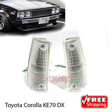 New 1-pair Corner Indicator Lamp Light For Toyota Corolla Dx KE70 E70 TE71 79-85