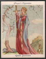 Queen Guinevere King Arthur Knights Of Round Table c80 Y/O Ad Trade Card