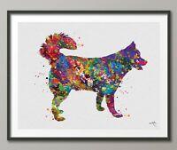 Siberian Husky Dog Watercolor Dog Print Dog Gift Pet Dog Love Puppy Friend-1553