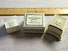 Lot of 3 Presentation Jewelry Boxes 2 Celluloid Plastic Ring plus 1