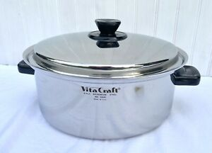 VitaCraft Nicronium Stainless Steel Stockpot 6 Qt With Lid # 5506