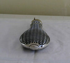 Collectors Sterling Silver Powder Flask,  Diamond