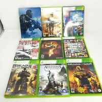 Lot Of 9 Xbox 360 Games Call of Duty Assassins Creed modern warfare gears of war