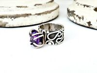 Bold Artisan CC Sterling Silver 925 Gemstone STATEMENT Designer Size 10.5 Ring