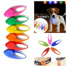 DOG COLLAR LIGHT UP TAG RUBBER PENDANT LED Flashing or Still Light for Collar