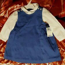 NWT Baby Girls Ralph Lauren Dress Sz 24 Months Jumper with Blouse