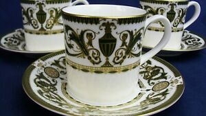 Royal Worcester WINDSOR Green & Gold coffee cup & saucer up to 8 in stock