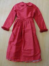 Käthe Kruse Seiden- Kleid mit Tasche!!! Rot Winter- Ideal für Weihnachten Gr.140
