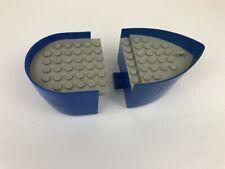 LEGO Parte 64651 /& 64645 BIANCO BARCA SCAFO Mattone /& Scafo con adesivi