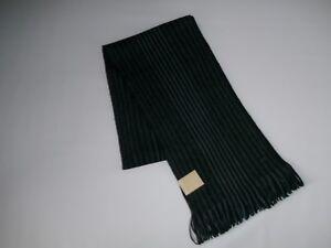 MICHAEL KORS Gray MARL STRIPE Knit RASCHEL Fringed Mens Winter SCARF NEW