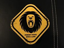 """Nos """"Nobody F*S With A Lion� Square Paintball Sticker"""