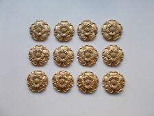 TWELVE TUDOR ROSES resin mouldings ANTIQUE GOLD