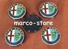 4 Tappi Coprimozzo ALFA ROMEO Giulietta 159 Brera 60 mm Fregi cerchi in lega