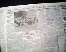 THE MASTERS TOURNAMENT jimmy Demaret Wins Golf Major at Augusta 1950 Newspaper