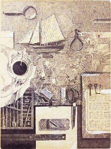 IVAN RUSACHEK, Art Print, Original Hand Signed Etching, Ex Libris Bookplate,2015