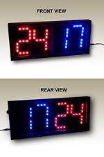 """Double-Sided Remote Controlled Scoreboard Red/Blue (5"""" digits)"""