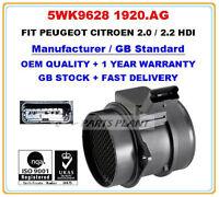 CITROEN PEUGEOT FIAT LANCIA 2.0 2.2HDi Mass Air Flow meter Sensor 5WK9628 1920AG