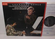 SXL 6866 Granados Spanish Songs Pilar Lorengar Soprano Alicia De Larrocha Piano