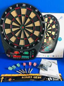 HOMCOM/CRIVIT Electronic Hanging Dartboard LED Score 27 Games - FAST DISPATCH