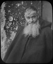 Glass Magic Lantern Slide A MONK OR PRIEST C1890 VICTORIAN PHOTO