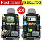 2PCS Car Back Seat Organiser ipad Tablet Holder Storage Kick Mats Kids Toys Bag☆