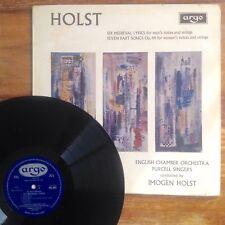 Holst Medieval Lyrics (Argo RG 495) Purcell Singers NM 1966 1st UK Press ECO