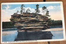 Vintage Postcard Sugar Bowl Rock Wisconsin Dells
