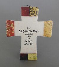 """Wandkreuz, Kreuz zum Hängen od. Stellen """"Der Segen Gottes"""" ca 14,5x 12cm NI 2546"""