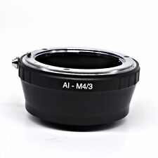 Nikon AI Lens to M4/3 Mount Adapter for all Micro Four Thirds system UK Seller