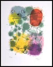 Joan Miro Hommage a Rimbaud Poster Kunstdruck mit Alu Rahmen in schwarz 30x24cm