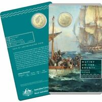 $1 UNC 2019 Mutiny on the Bounty Australia Coin in RAM Card limited and Rare
