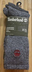Men's Timberland 2 Pack Cushioned Boot Socks One Size Heather Grey