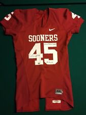 Oklahoma Sooners Game Worn Red NIKE Jersey #45 Size 44 - Jimmy Wilkerson Signed