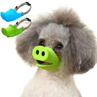 Adjustable Cute Pig Nose Anti-Bite Anti-Bark Small Dog Pet Muzzle Mouth Mask Oma