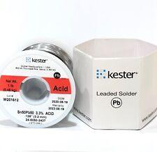 Kester Solder Wire 1 Lb 5050 Lead Sn50pb50 125 33 Acid Core 24 5050 2437
