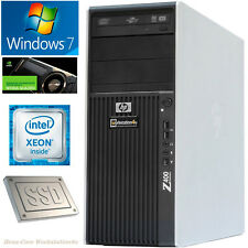 HP Z400 Workstation PC 6-Core Xeon X5670 Ram 16GB SSD 128GB HDD250GB NVS300 Win7