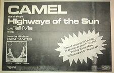 CAMEL Highways of the Sun 1977 UK Press ADVERT 12x8 inches
