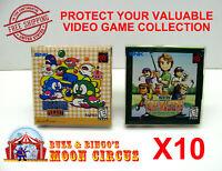 10X NEO GEO POCKET / COLOR CIB GAME - CLEAR PLASTIC PROTECTIVE BOX PROTECTORS