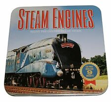 Steam Engines  - gift set in tin (book and magnets)  -  UNUSED / sealed